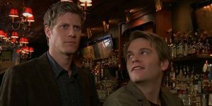 Eric Sheffer Stevens (l) joined As The World Turns in its last year on the air as Dr. Reid Oliver. His pairing with Van Hansis' Luke divided audiences between those who wanted to see the electric pairing of Stevens and Hansis and those wanting a happy ending for Luke and his former love, Noah, played by Jake Silbermann. Reid Oliver's death was central to the plot of the show's finale, though it did not satisfy many viewers.
