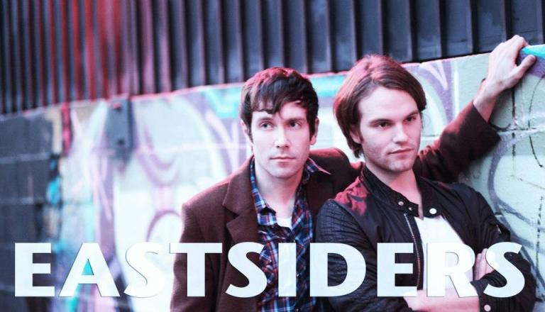 "Kit Williamson and Van Hansis star as Cal and Thom in the web series ""Eastsiders.""  Watch at www.eastsiderstv.com"