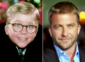 Peter Billingsley then and now. The original Ralphie from the movie is one of Hollywood's behind-the-scenes big-wigs these days. He's also one of the producers of this musical.