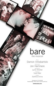 Bare, reinvented, opened Dec. 9, 2012 off-Broadway at New York's New World Stages.