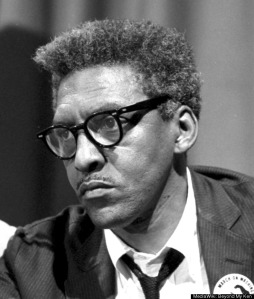Bayard Rustin, the gay, Quaker civil rights organizer. He is one of the unsung heroes of the last century's social movements.